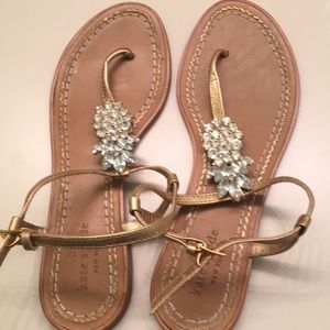 Sandals with rhinestone detail